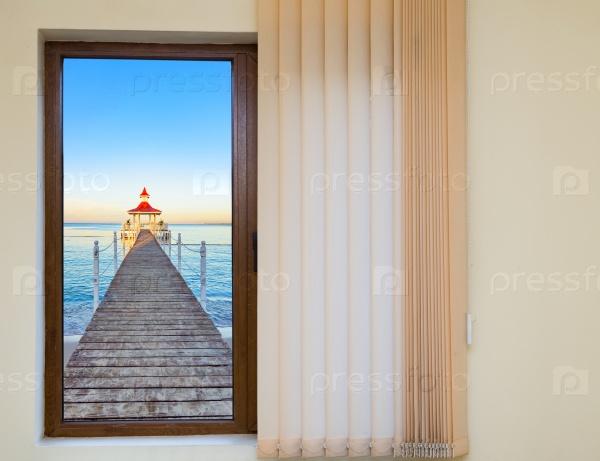 Окно в беседке