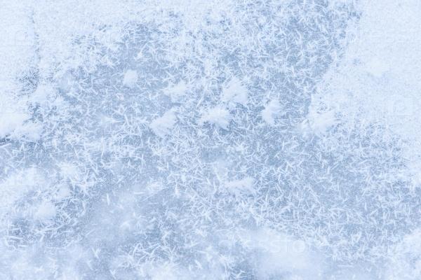 Фон лед на замерзшем пруду