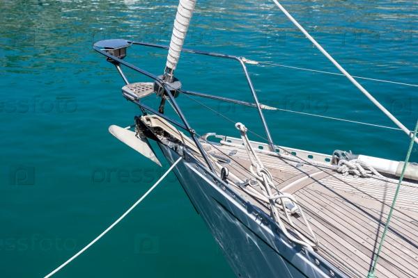 Деталь парусной лодки или яхты