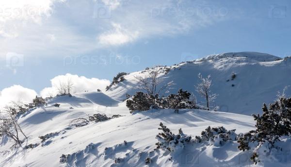 Зимние горы Словении