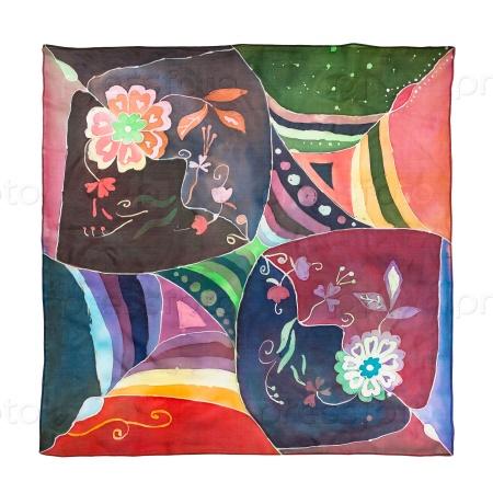 Батик на шелковом шарфе