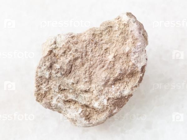 Камень мергель на белом