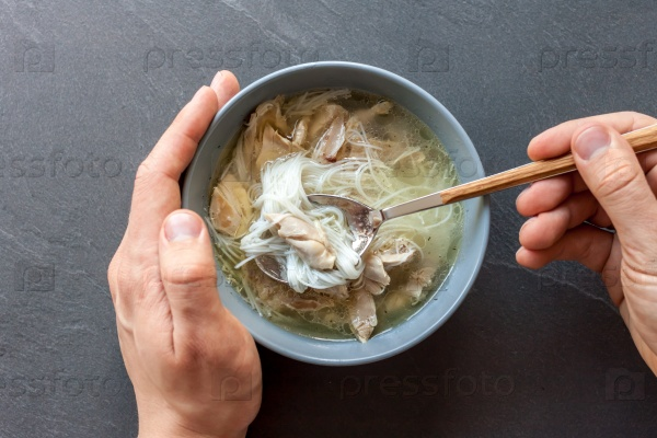 Азиатский суп с уткой