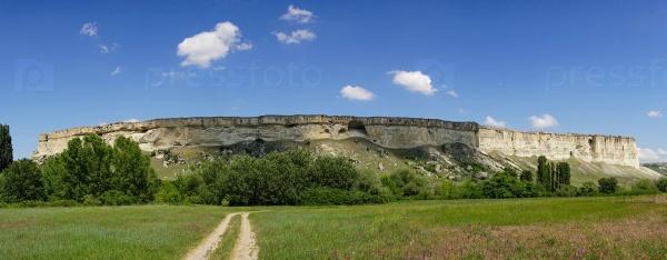 Панорама горного пейзажа АК-Кей в Крыму