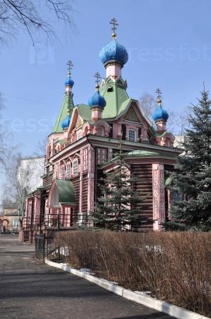 Деревянная церковь Троицы Живоначальной в Наташине в Люберцах