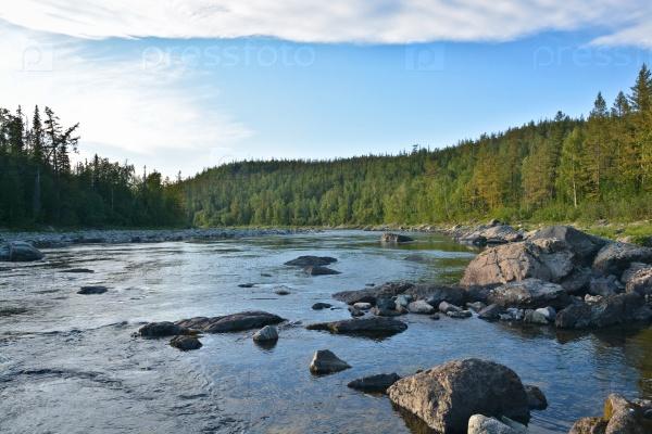 Летний пейзаж, северная река