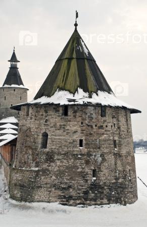Псков. Башня Кутекрома и Кром
