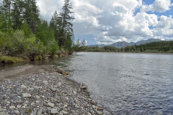 Пейзаж к северу от реки