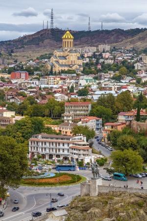 Вид собора Святой Троицы в Тбилиси, Грузия