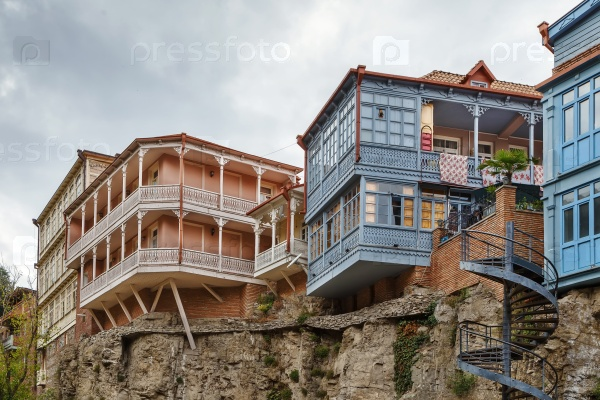 Дома с балконами, Тбилиси, Грузия