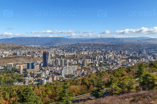 Вид новых областей, Тбилиси, Грузия