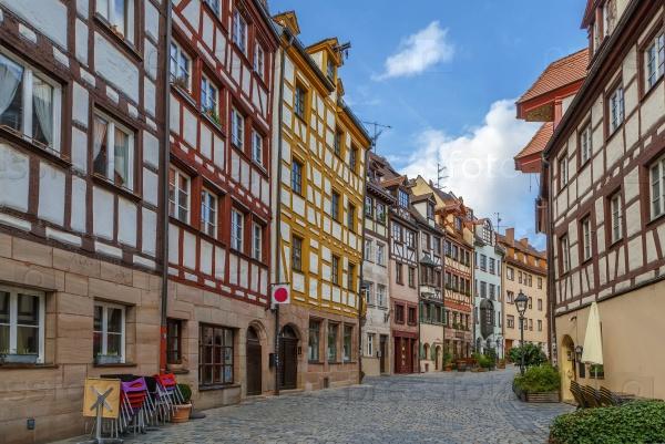 Улица в городе Нюрнберг, Германия