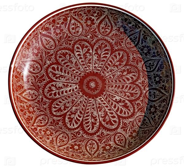 Тарелка с традиционным узбекским орнаментом