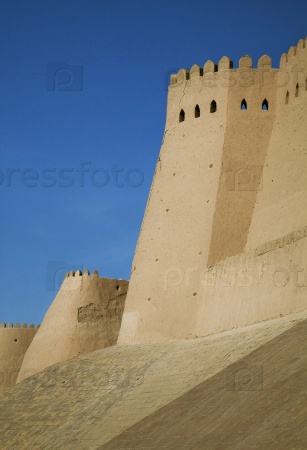 Ичан Калы стены - Старый город Хива, Узбекистан