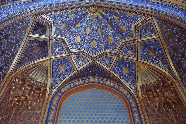 Потолок мавзолея Аксарай, Самарканд, Узбекистан