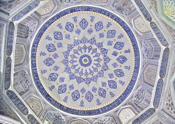Потолочный орнамент Ширина-Бик мавзолея, Самарканд
