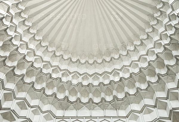 Традиционные украшения потолка мечети, Узбекистан