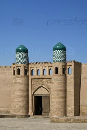 Куня Арк ворота в Хиве, Узбекистан