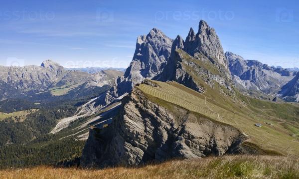 Сецеда гора в Доломитах, панорама