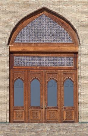 Резные деревянные двери, Узбекистан