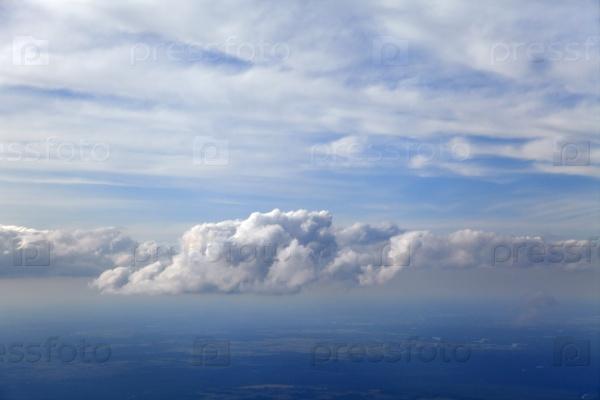 Облака, вид с самолета