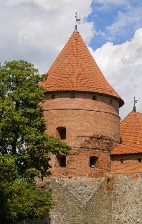 Башня замка Тракай возле Вильнюса