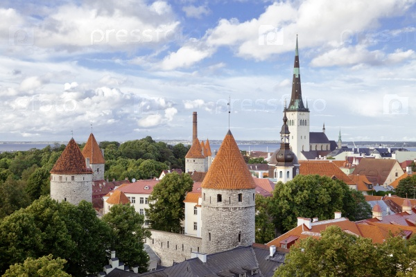 Вид с воздуха на Таллинн
