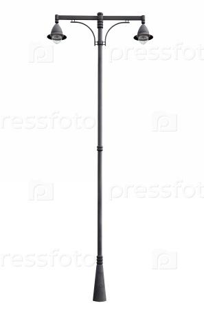 Уличный фонарный столб, изолированные