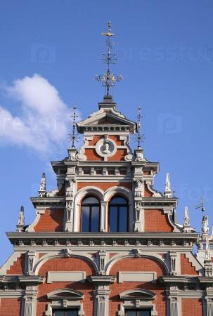 Верх Дома Черноголовых в Риге