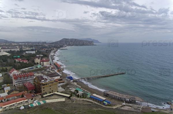 Бухта на побережье Черного моря, Крым